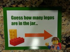 Lego movie party games -sign