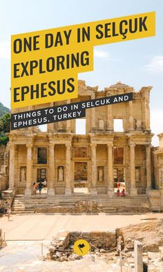 Selcuk is a great place to use as your base to explore Ephesus, the ancient Greek city. Here's a complete travel guide to Selcuk and Ephesus with a recommended one-day itinerary for your Turkey trip. Turkey Vacation, Turkey Travel, Asia Travel, Solo Travel, Travel Plan, Travel Advice, Istanbul Airport, Ancient Greek City, Roman City