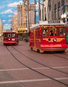 Red Car Trolleys in Hollywood Land. Photo by NormLanier