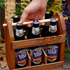 Best Man Gift -Home Brew Six Pack Carrier - Wooden Six Pack - Beer Caddy - Bottle Opener  - Men - Groomsmen Gift