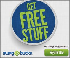 Check out Swagbucks where you can get free stuff with no strings attached and no gimmicks. Sign up and be sure to check for their confirmation email in order to start to enjoy the benefits of Swagbucks. Don't forget, Friday is Mega Swagbucks Day!
