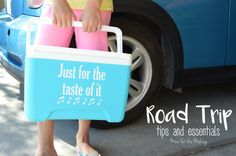 Road trip tips & essentials + how to #ShareTheLyrics on your cooler full of Diet Coke! #ad