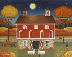 Pennsylvania Dutch Hex Barn Print By Mary Charles.  The original is available at Dutchland Galleries.com (need this to represent my PA dutch heritage - Clouser (Klauser) ~ kcs)