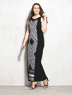 1ba301c8c4d Plus Size Tribal Print Maxi Dress Plus Size Maxi Dresses
