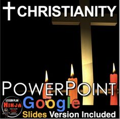 Christianity PowerPoint/Google Slides with video clips and presenter notes is packed with maps, stunning visuals, and embedded video links, and presenter notes, everything you need to keep your students engaged.Fifteen slide PowerPoint / Google Slides brings students to the story of Jesus of Nazaret... History Lesson Plans, World History Lessons, Teaching American History, Teaching History, Jesus Stories, Jesus Bible, Teaching Social Studies, World Religions, Video Clip