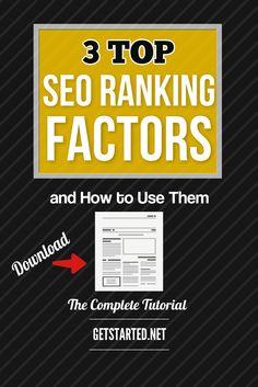 3 Top SEO Ranking Factors