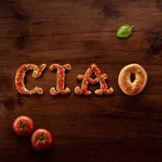 Food Typography + d'Italiano by Danielle Evans