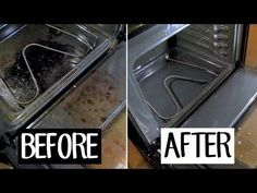 cleaning oven Heres how to clean oven with vinegar and baking soda. Natural oven cleaner to clean oven racks, oven glass, and how to clean self-cleaning ovens. Oven Cleaning Hacks, Cleaning Oven Racks, Cleaning Your Dishwasher, Self Cleaning Ovens, Household Cleaning Tips, Cleaning Recipes, House Cleaning Tips, Green Cleaning, Spring Cleaning