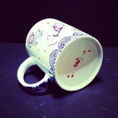 Mug peint motifs japonais.