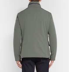 Shield yourself from the elements in style in <a href='http://www.mrporter.com/mens/Designers/Canali'>Canali</a>'s padded jacket. The shell has been treated with a water-resistant coating which also protects from dust and stains, while the satin-lined interior sports an array of practical pockets to stow personal effects. Unfurl the optional hood concealed in the leather-trimmed collar when rogue showers make an appearance.