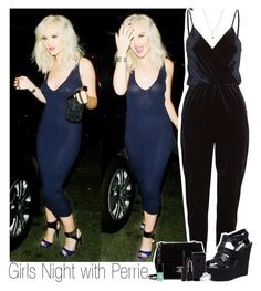 """""""Girls Night with Perrie x"""" by mickiefantasyworldx ❤ liked on Polyvore featuring LC Lauren Conrad, Chanel, Steve Madden, Smashbox and Jin Soon"""