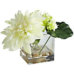 Putting small flower accents, real or fake, really add to room