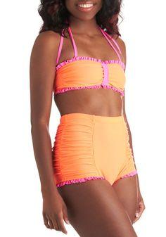 3f2e4dec34 Sun Tangerine Two Piece High Waisted Bikini Bottoms