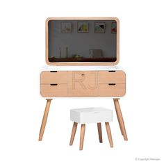 Polly Dressing Table   Scandinavian Table   Storage Solutions – Retrojan