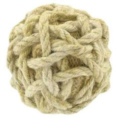 """Hobby Lobby - 3 1/2"""" Natural Nautical Rope Ball.. I wonder if I could dye these?"""