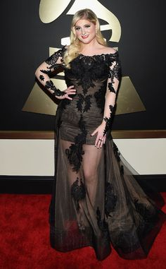 Meghan Trainor from 2015 Grammys: Red Carpet Arrivals  InGalia Lahav #2015grammys #redcarpet #meghantrainor