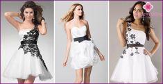Czarne i białe suknie ślubne - model 2015 i związane z nimi akcesoria ze…