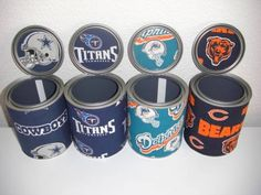 Fabric covered paint cans