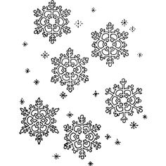 snowflakes page BW - /weather/snow/flakes/snowflakes_page_BW.png.html ❤ liked on Polyvore featuring backgrounds and xmas