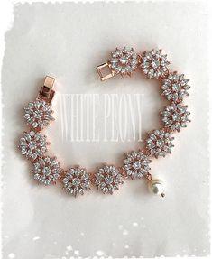 "Rose Gold Boho Bridal Crystal Flower Bracelet-Art Deco Old Hollywood Cubic Zirconia Swarovski Pearl Starburst Snowflake Bracelet-""BRYCE"" Stylish Jewelry, Simple Jewelry, Fashion Jewelry, Bridal Jewelry, Gold Jewelry, Jewelery, India Jewelry, Diamond Jewelry, Starburst Bracelet"
