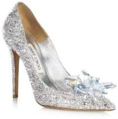 5e8f102efd9f18 Jimmy Choo Crystal Suede Point Toe Pumps 100MM Pearl Shoes
