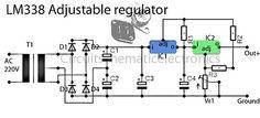 LM338 regulator power supply
