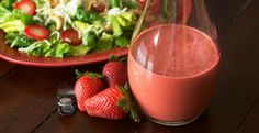 Strawberry Balsamic Vinaigrette Dressing Recipe on Yummly. Vinaigrette Dressing, Salad Dressing Recipes, Cupcake Diaries, Strawberry Balsamic, Course Meal, Healthy Salads, Lake City, Food Videos, Conference