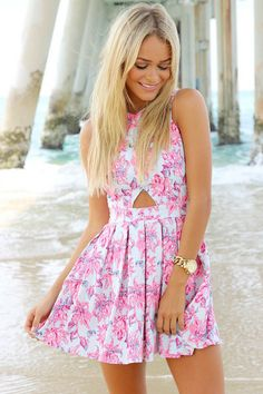 DRESS: http://www.glamzelle.com/collections/dress/products/chic-floral-heritage-cutout-skater-dress-2-colors-available