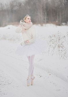 "Winter ballerina. Makes me want to see the "" Nutcracker Ballet"" again."
