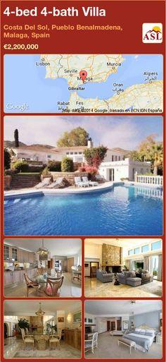 4-bed 4-bath Villa in Costa Del Sol, Pueblo Benalmadena, Malaga, Spain ►€2,200,000 #PropertyForSaleInSpain