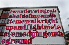 Ben Eine pays tribute to Jack White using lyrics from 'Love Interruption' for new mural In Stavanger, Norway StreetArtNews