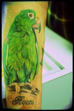 green parrot tattoo - Google Search