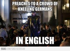 i guess all the Germans he talked to understood English! haha