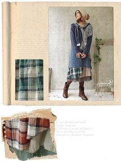 Petticoat tunika lagenlook karo vintage retro kawaii Japan gyaru shabby chic