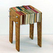 Gorgeous book stool #DIY #Book #Stool