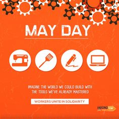 Eight hours for work, eight hours for rest, eight hours for whatever you like to do. Happy Workers Day. #MayDay