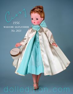 While one of the more familiar Cissy's to collectors, the costuming of this doll reflects many different fashion influences of the mid-century. Barbie Gowns, Barbie Clothes, Old Dolls, Antique Dolls, Girl Dolls, Baby Dolls, Vestidos Nancy, Vintage Madame Alexander Dolls, Glamour Dolls