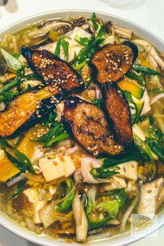 (Chicago, IL) Slurping Turtle: #Vegan Tofu Mushroom Noodle Soup ($14) with whole wheat ramen noodle, silken tofu, Japanese mushrooms and kabocha squash | vegan miam