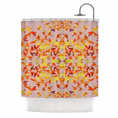 East Urban Home Flying Birds by Marianna Tankelevich Abstract Shower Curtain