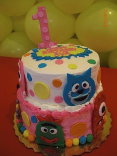 Cake at a YoGabbaGabba Party #yogabbagabba #party