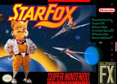 StarFox for Nintendo SNES was the first in the Star Fox series of video games, released in 1993. It Nintendos first attempt at a 3D game using polygon graphics. It included the Super FX chip, a coprocessor inside the game cart, to accelerate graphics display.