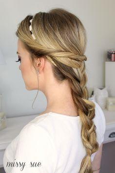single braid with twists missysue blog Embellished French Braid with Twists
