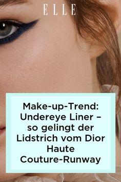 Der Unereye Liner von Dior Haute Couture avanciert zum beliebtesten Make-up-Trend der Saison. Hier erfährst du, wie der stilvolle Lidstrich gelingt – auf Elle.de! #beauty #haut #hautpflege #skincare