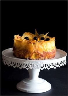 TARTA DE NARANJA CON PASTA FILO Choco Chip Cookies, Choco Chips, Phyllo Recipes, Cake Recipes, Chilean Recipes, Sweet Cooking, Fancy Desserts, Sweet Tarts, Drip Cakes