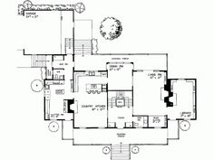 John Jay Farmhouse plan - I love the clutter room and music alcove