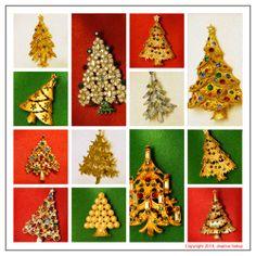 I love Christmas tree pins.