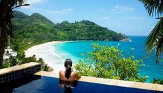 Intendance Pool Villa at 5 star hotel: Banyan Tree Seychelles Resort & Spa. This hotel's address is: Anse Intendance Mahé Island Seychelles Islands and have 60 rooms Seychelles Resorts, Les Seychelles, Seychelles Islands, Romantic Resorts, Safari Holidays, Honeymoon Style, Western Coast, Beautiful Pools, Luxury Holidays