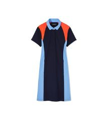 COLOR-BLOCK PIQUÉ POLO DRESS