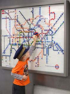 The Lego tube map is bound to be a favourite with commuters and tourists