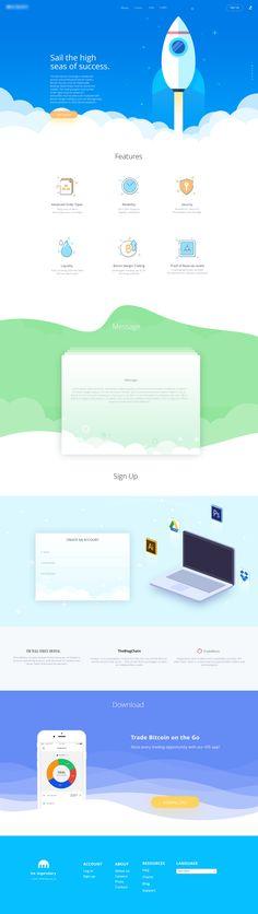 #webdesign #web #design #UI #UX #inspiration #creative #layout #landing #flat…